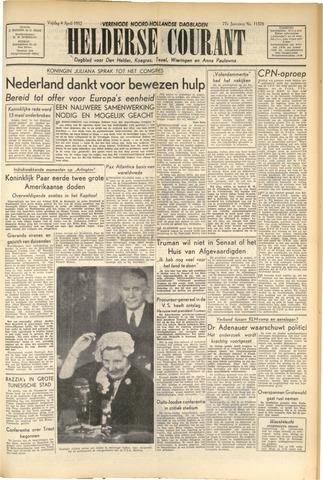 Heldersche Courant 1952-04-04