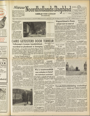 Nieuw Noordhollandsch Dagblad : voor Alkmaar en omgeving 1952-01-28