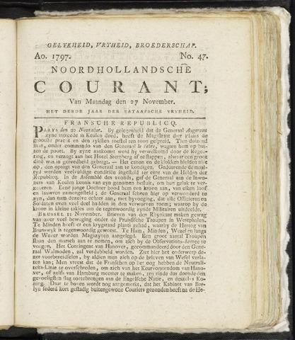 Noordhollandsche Courant 1797-11-27