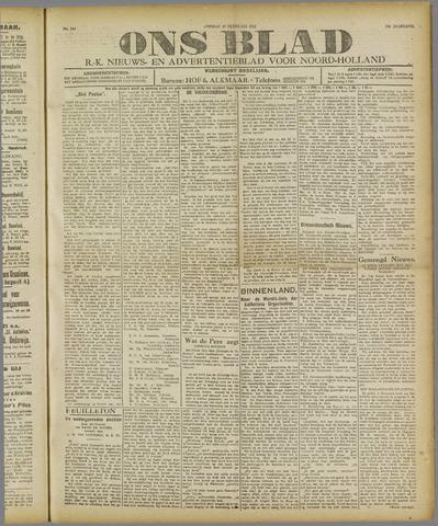 Ons Blad : katholiek nieuwsblad voor N-H 1921-02-15