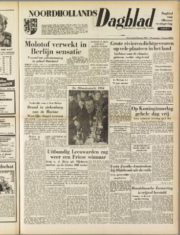 Noordhollands Dagblad : dagblad voor Alkmaar en omgeving 1954-02-04