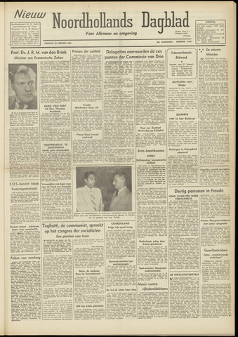 Nieuw Noordhollandsch Dagblad : voor Alkmaar en omgeving 1948-01-20