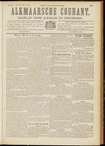 Alkmaarsche Courant 1915-02-15