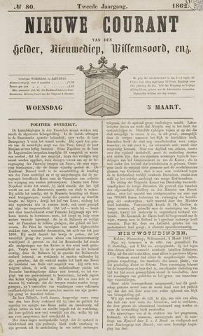 Nieuwe Courant van Den Helder 1862-03-05