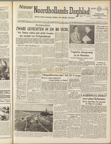 Nieuw Noordhollandsch Dagblad : voor Alkmaar en omgeving 1950-06-27