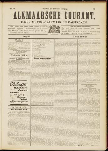 Alkmaarsche Courant 1911-02-17