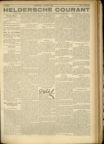 Heldersche Courant 1925-10-01