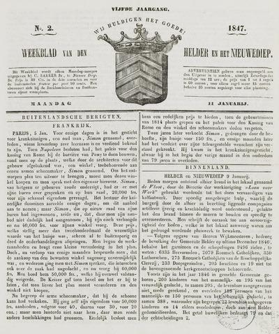 Weekblad van Den Helder en het Nieuwediep 1847-01-11