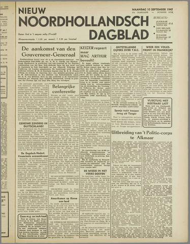 Nieuw Noordhollandsch Dagblad : voor Alkmaar en omgeving 1945-09-10