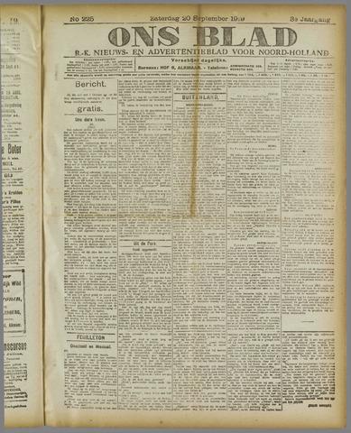 Ons Blad : katholiek nieuwsblad voor N-H 1919-09-20