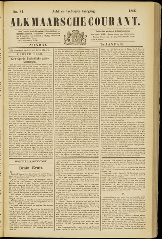 Alkmaarsche Courant 1886-01-24