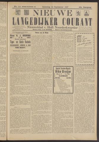 Nieuwe Langedijker Courant 1927-09-24