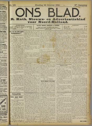 Ons Blad : katholiek nieuwsblad voor N-H 1912-10-22