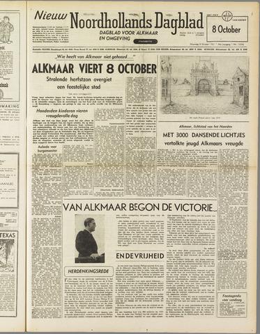 Nieuw Noordhollandsch Dagblad : voor Alkmaar en omgeving 1951-10-08