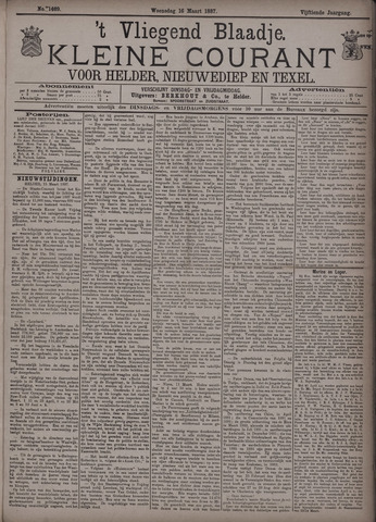 Vliegend blaadje : nieuws- en advertentiebode voor Den Helder 1887-03-16