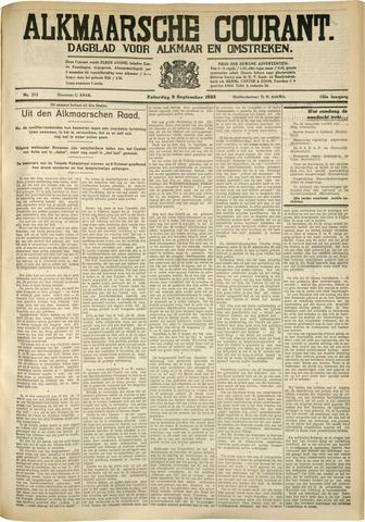 Alkmaarsche Courant 1933-09-09