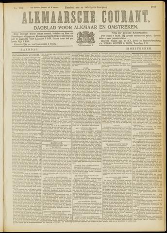 Alkmaarsche Courant 1919-09-22