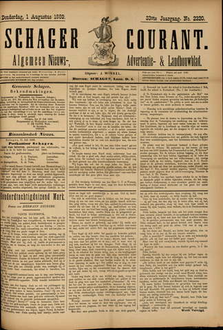 Schager Courant 1889-08-01
