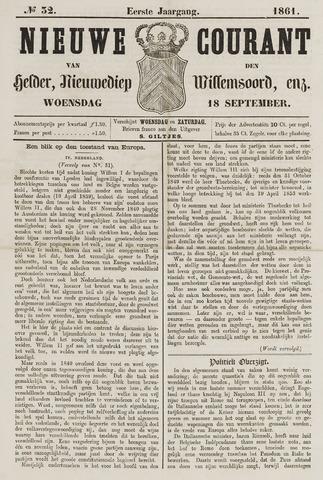 Nieuwe Courant van Den Helder 1861-09-18