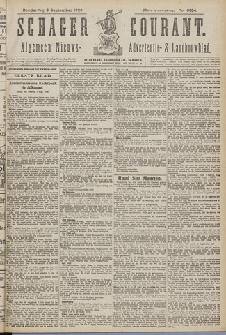 Schager Courant 1920-09-09