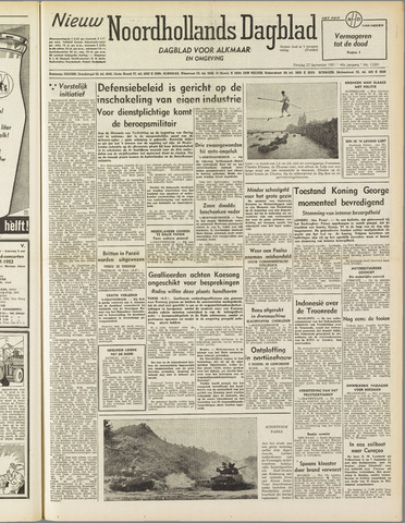 Nieuw Noordhollandsch Dagblad : voor Alkmaar en omgeving 1951-09-25