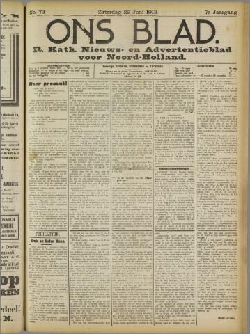 Ons Blad : katholiek nieuwsblad voor N-H 1913-06-28