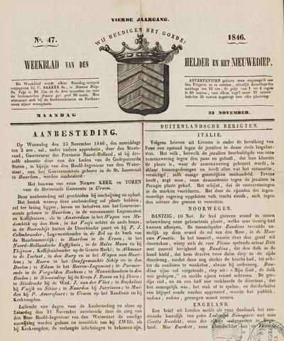 Weekblad van Den Helder en het Nieuwediep 1846-11-23