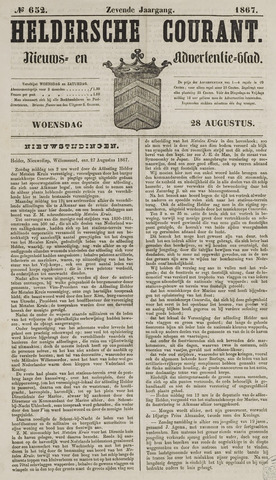 Heldersche Courant 1867-08-28