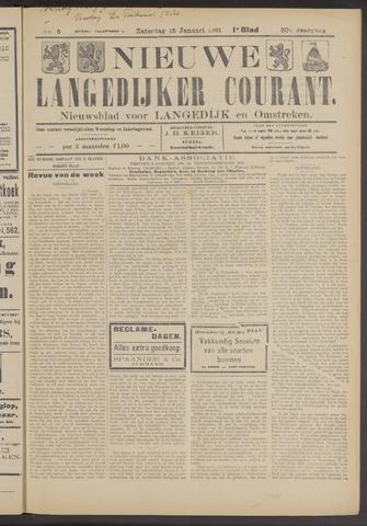 Nieuwe Langedijker Courant 1921-01-15