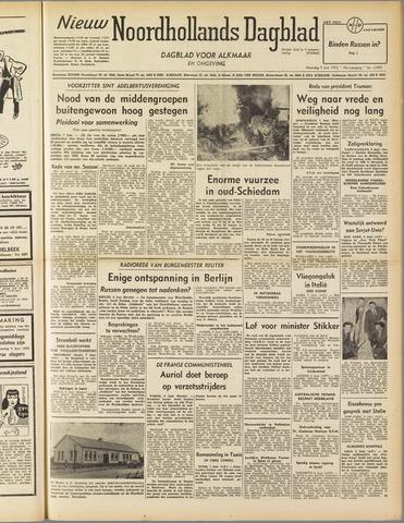 Nieuw Noordhollandsch Dagblad : voor Alkmaar en omgeving 1952-06-09