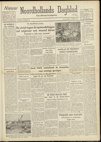 Nieuw Noordhollandsch Dagblad : voor Alkmaar en omgeving 1948-09-25