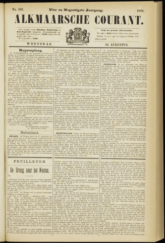 Alkmaarsche Courant 1892-08-24