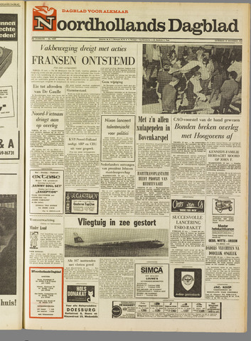 Noordhollands Dagblad : dagblad voor Alkmaar en omgeving 1968-11-23