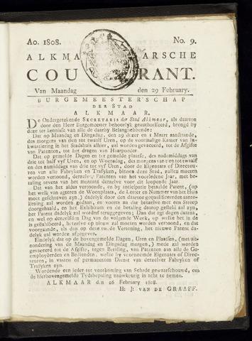 Alkmaarsche Courant 1808-02-29