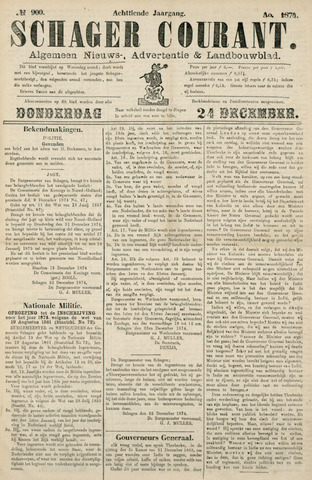 Schager Courant 1874-12-24