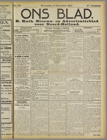Ons Blad : katholiek nieuwsblad voor N-H 1910-11-09