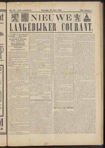Nieuwe Langedijker Courant 1923-06-26