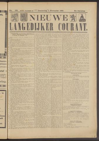 Nieuwe Langedijker Courant 1922-11-02