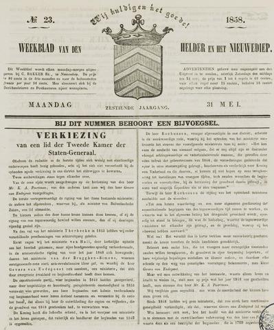 Weekblad van Den Helder en het Nieuwediep 1858-05-31