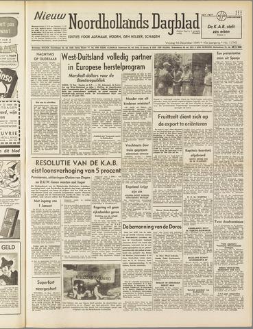 Nieuw Noordhollandsch Dagblad : voor Alkmaar en omgeving 1949-12-16
