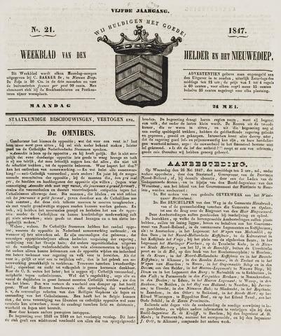 Weekblad van Den Helder en het Nieuwediep 1847-05-24