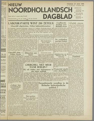 Nieuw Noordhollandsch Dagblad : voor Alkmaar en omgeving 1945-07-27