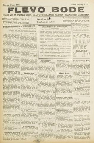 Flevo-bode: nieuwsblad voor Wieringen-Wieringermeer 1946-06-29