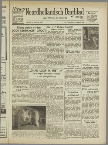 Nieuw Noordhollandsch Dagblad : voor Alkmaar en omgeving 1946-02-05