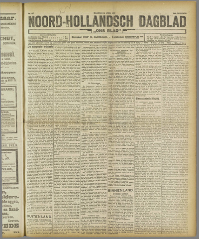 Ons Blad : katholiek nieuwsblad voor N-H 1921-04-11