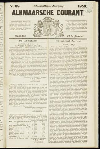 Alkmaarsche Courant 1856-09-22