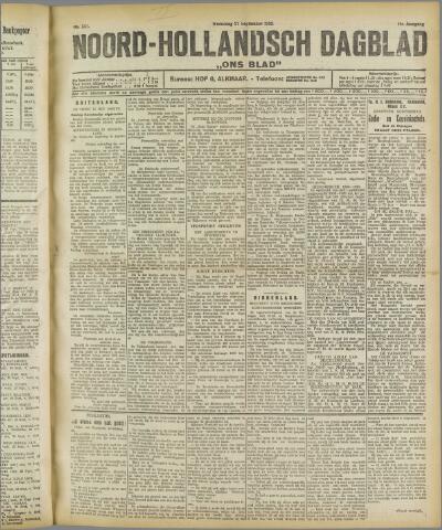 Ons Blad : katholiek nieuwsblad voor N-H 1922-09-27