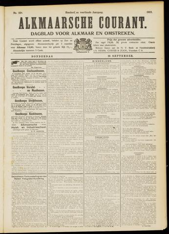 Alkmaarsche Courant 1912-09-26