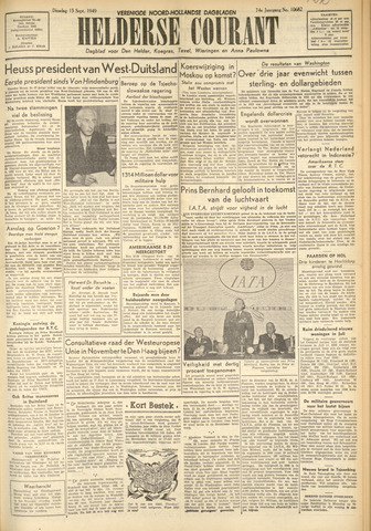 Heldersche Courant 1949-09-13