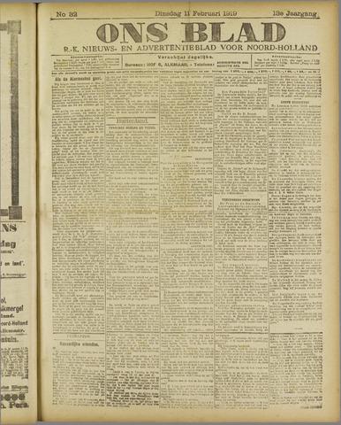 Ons Blad : katholiek nieuwsblad voor N-H 1919-02-11